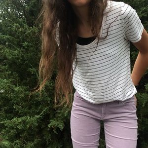 Lavender corduroy skinny pants